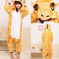 SHIPFREE Kigurumi Pajamas Anime Cosplay Pyjamas Costume Hoodie Adult PartyDress