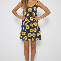 Twirl Away Dress - Sunflower