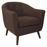 Lumisource Rockwell Accent Chair In Espresso