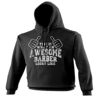 123t USA This Is What An Awesome Barber Funny Hoodie