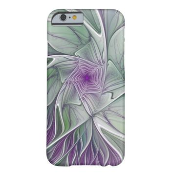 Flower Dream, Abstract Purple Green Fractal Art Barely There iPhone 6 Case