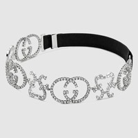 Gucci Crystal Interlocking G headband