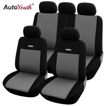 High Quality Car Seat Covers Polyester 3MM Composite Sponge Universal Fit Car Styling for lada Toyota seat cover car accessories