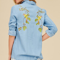 Tencel Bird Embo Shirt
