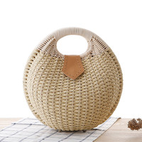 Lovely Conchoid Bag Woven Tote Bag [6580755847]