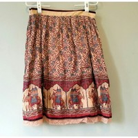 Elephant Skirt india sari style knee length sz 12
