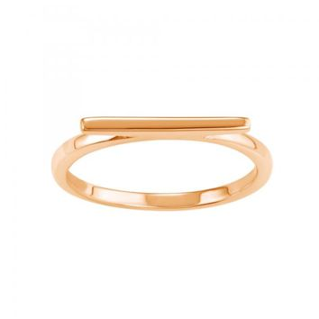 Bar Ring 14Kt Rose Gold Plated
