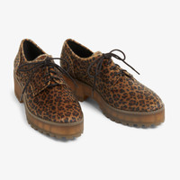 Chunky heel derby shoes - Leopard print - Shoes - Monki GB