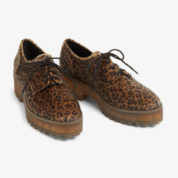 724e2d55f75 Chunky heel derby shoes - Leopard print - Shoes - Monki GB