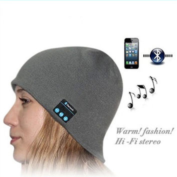 Wireless Bluetooth Earphone Hat for iPhone Samsung Android Phones