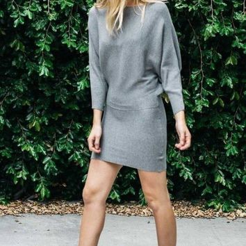 So Kate Sweater Dress - Grey