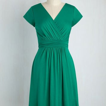 Let's Do This Again Dress in Sea Green | Mod Retro Vintage Dresses | ModCloth.com