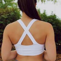 White Out Sports Bra
