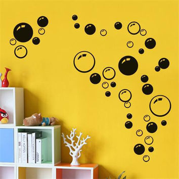 Nursery kitchen bathroom Bubble wall sticker removable waterproofing home wall decal PVC wall sticker SM6