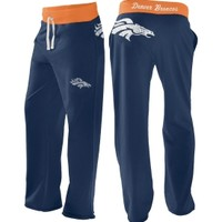 G-III Women's Denver Broncos Navy Recruit Boyfriend Pants - Dick's Sporting Goods