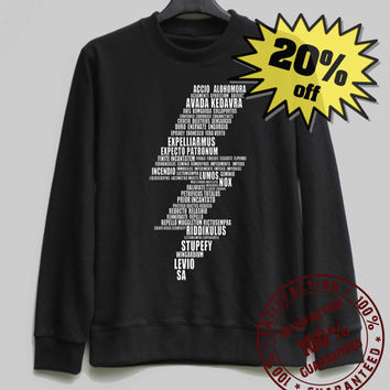 Harry Potter Lightning Bolt Shirt Harry Potter Sweatshirt Sweater Shirt – Size XS S M L XL