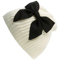 kate spade new york diagonal rib knit beanie | Nordstrom