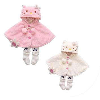 Autumn Winter Newborn Baby Girls Thick Coat Hooded Cloak Poncho Jacket Outwear Coat Clothes