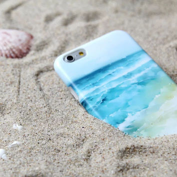 Beach case Soft TPU Case For iPhone 6 6s 4.7 6 Plus 5.5 Phone case -0317
