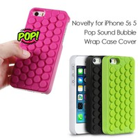 Novelty for iPhone 5s 5 SE Pop Sound Bubble Wrap TPU Phone Back Case Cover for iPhone5s