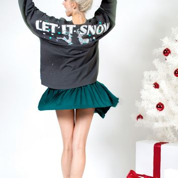 Let it Snow, Classic Long Sleeve Crew Neck Holiday Spirit Jersey®