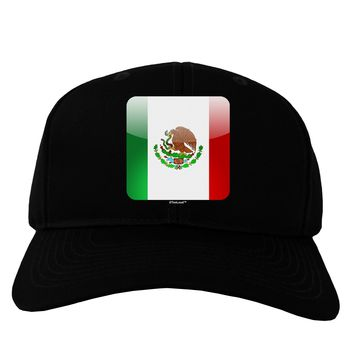 Mexican Flag App Icon Adult Dark Baseball Cap Hat by TooLoud