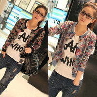 New Fashion Womens Cute Cartoon Printing Long Sleeve Cardigan Jacket Coat  A_L = 1658542852