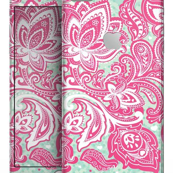 Red and Green Floral Ethnic - Skin-kit for the iPhone 8 or 8 Plus