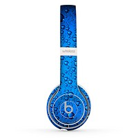 The Glowing Blue Vivid RainDrops Skin Set for the Beats by Dre Solo 2 Wireless Headphones