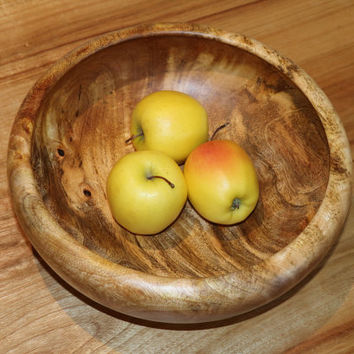 Wooden bowl, large, mango wood