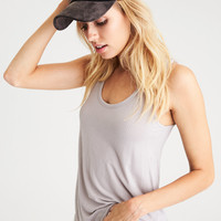 AEO Soft & Sexy Ribbed Boy Tank, Light Gray
