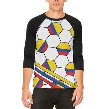 World Cup Colombia Soccer Ball Mens Raglan T Shirt