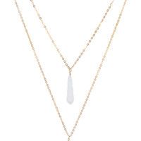 Firestone Necklace in Gold