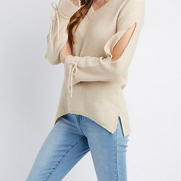 V-Neck Pullover Sweater | Charlotte Russe