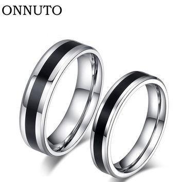 Fashion Titanium Steel Couple Ring His And Hers Promise Ring Alliances of Marriage Love Ring lord Wedding for Lovers 7C0235