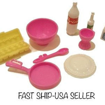 9pc. Barbie Food Set~ toy accessories