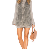 Show Me Your Mumu Luis Faux Fur Vest in Arctic Fox | REVOLVE