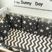 baby bed bumper 1pcs 60*30CM bebek crib bumper infant bed around protection clouds stars tree design baby crib cama bumper