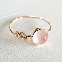 piyada Fashion Women Pink Moonstone 18K Rose Gold Filled Ring Wedding Jewelry Size6-10 (8)
