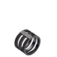 Michael Kors Pave Barrel Ring, Black