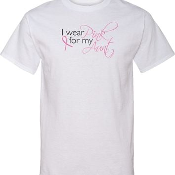 Breast Cancer Tall T-shirt Pink For My Aunt