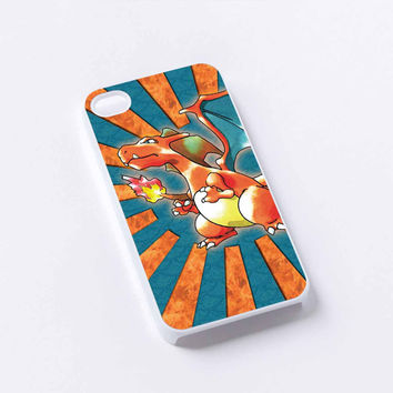 pokemon charizard fire iPhone 4/4S, 5/5S, 5C,6,6plus,and Samsung s3,s4,s5,s6