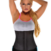Gym Work Out Waist Trainers Black Lg
