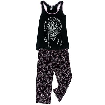 Knit Racerback Tank With Pants Set