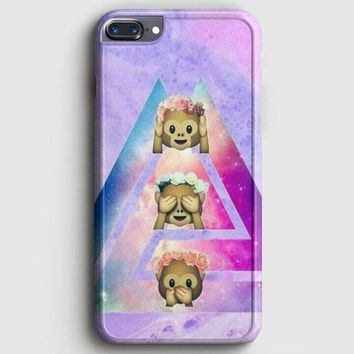 Emoji Monkey Tie Dye Cute Emojis iPhone 8 Plus Case