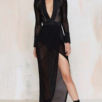 Zhivago Eye of Horus Sheer Slit Dress