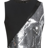 Sequin Paneled Crop Top | Moda Operandi