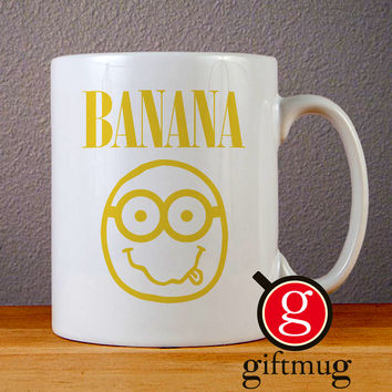 Nirvana Banana Ceramic Coffee Mugs