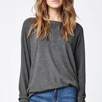 Nollie Solid Boat Neck Sweatshirt - Womens Hoodie