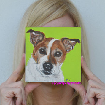Original acrylic painting, dog Dog art Pop art pet portrait dog portrait dog painting modern art pet portrait
